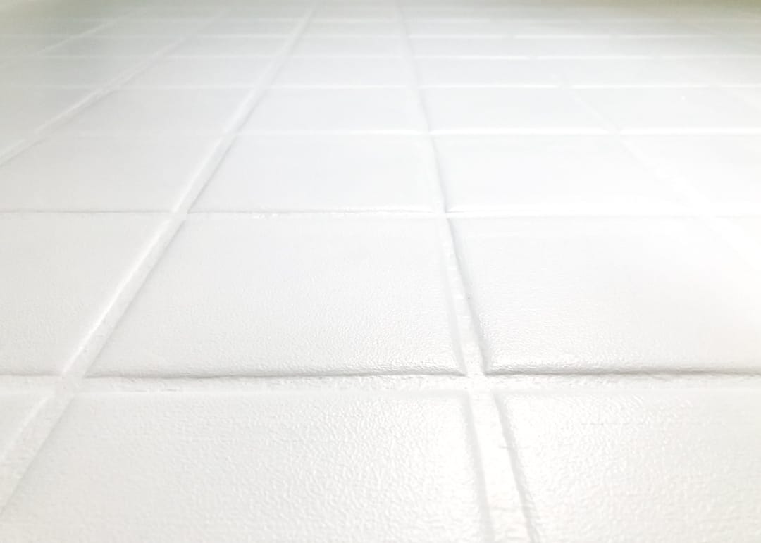 tile floor painted with floor paint