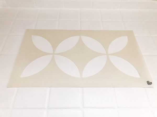 tile stencil for multiple tiles
