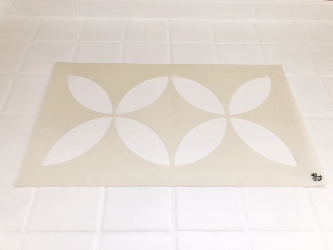 stencil for painting a tile floor