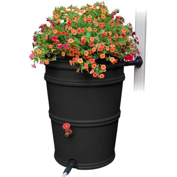 rain barrel with planter top