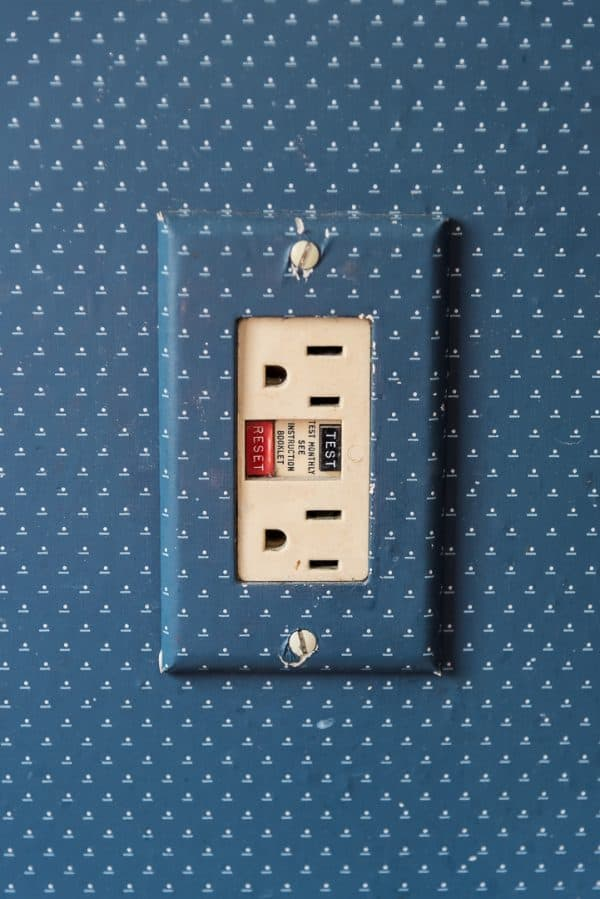 wallpaper covered outlet
