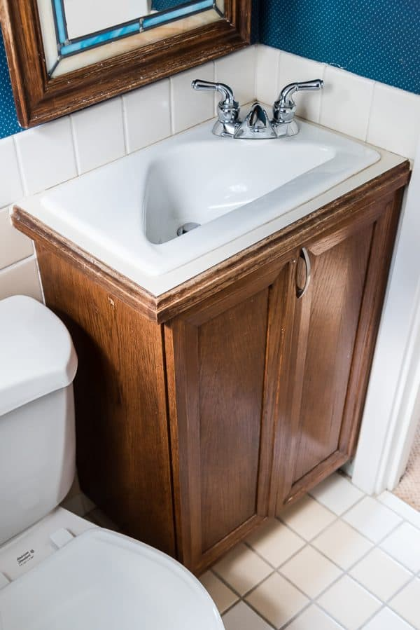 Worn Bathroom Vanity