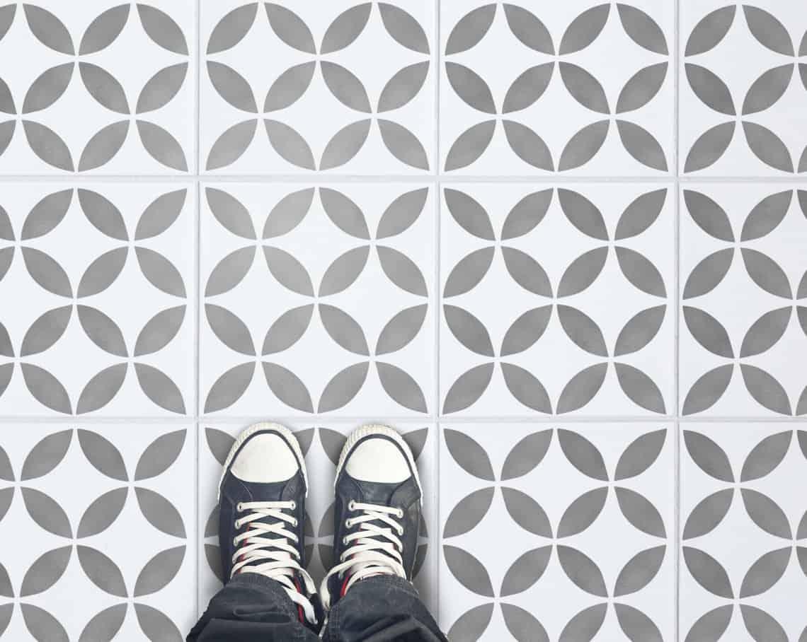 tile floor stencil pattern