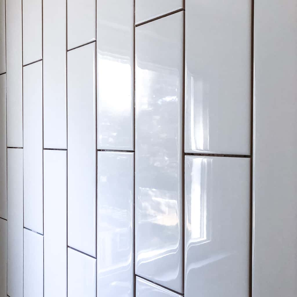how to install vertical subway tile - orc week 3
