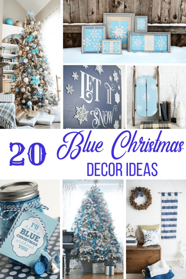 20 Blue Christmas Decor Ideas