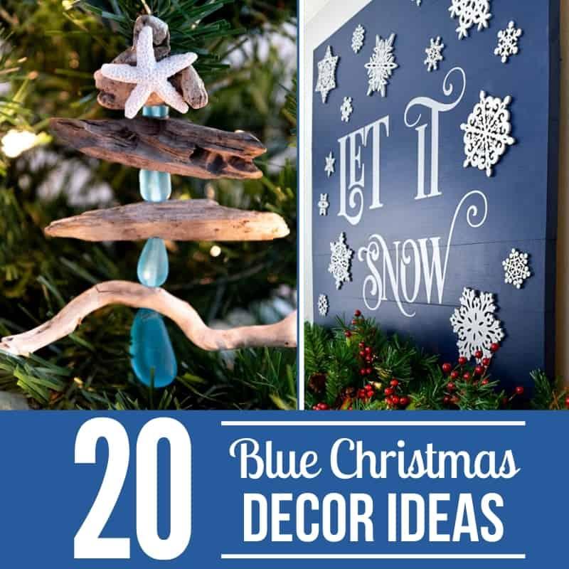 20 Blue Christmas decor ideas
