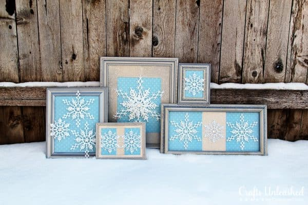 blue snowflake decorations