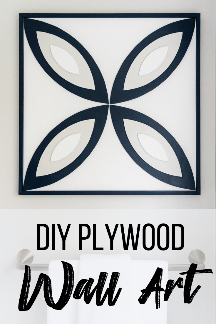 DIY plywood wall art with 3D geometric pattern