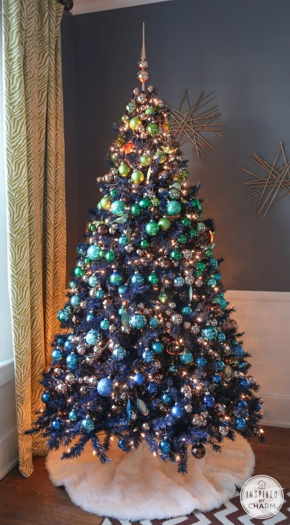 ombre blue Christmas tree
