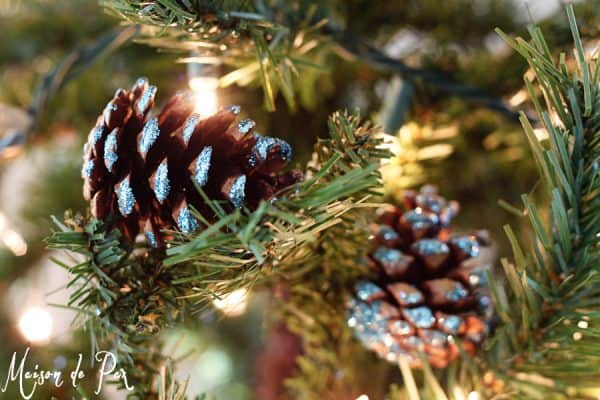 blue pinecone ornaments