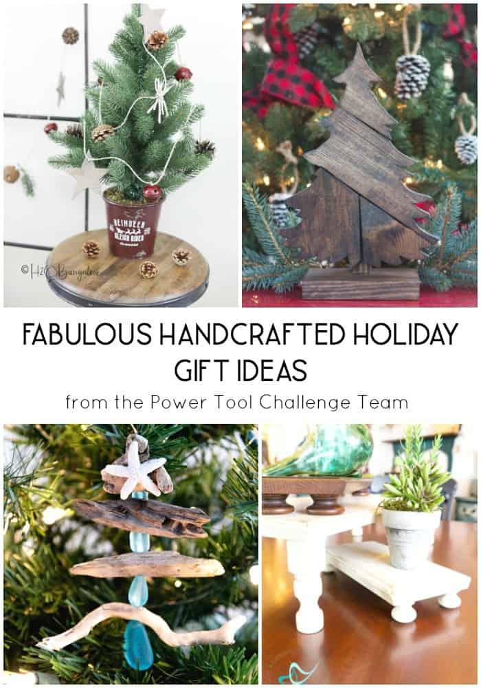 four Christmas decor ideas made of wood