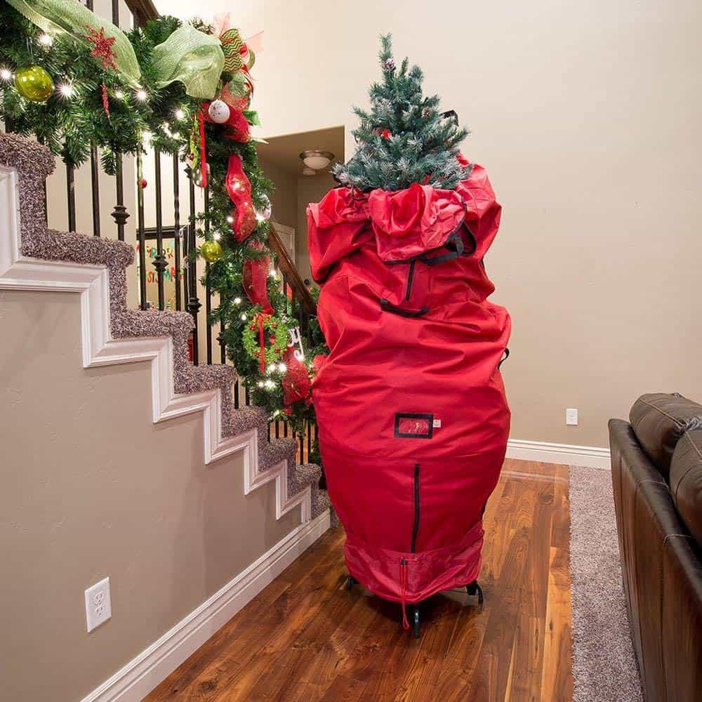 upright Christmas tree bag