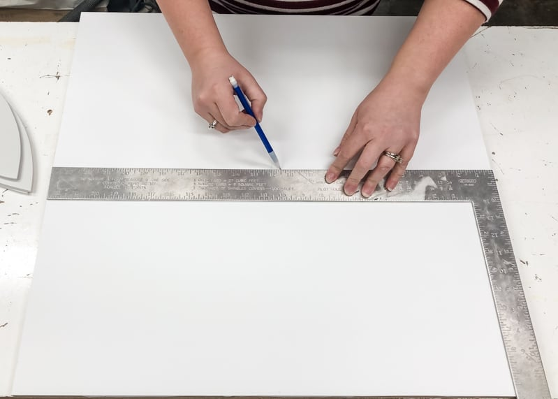 "marking the center of a 24"" square board"