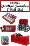 9 Genius Christmas decoration storage ideas