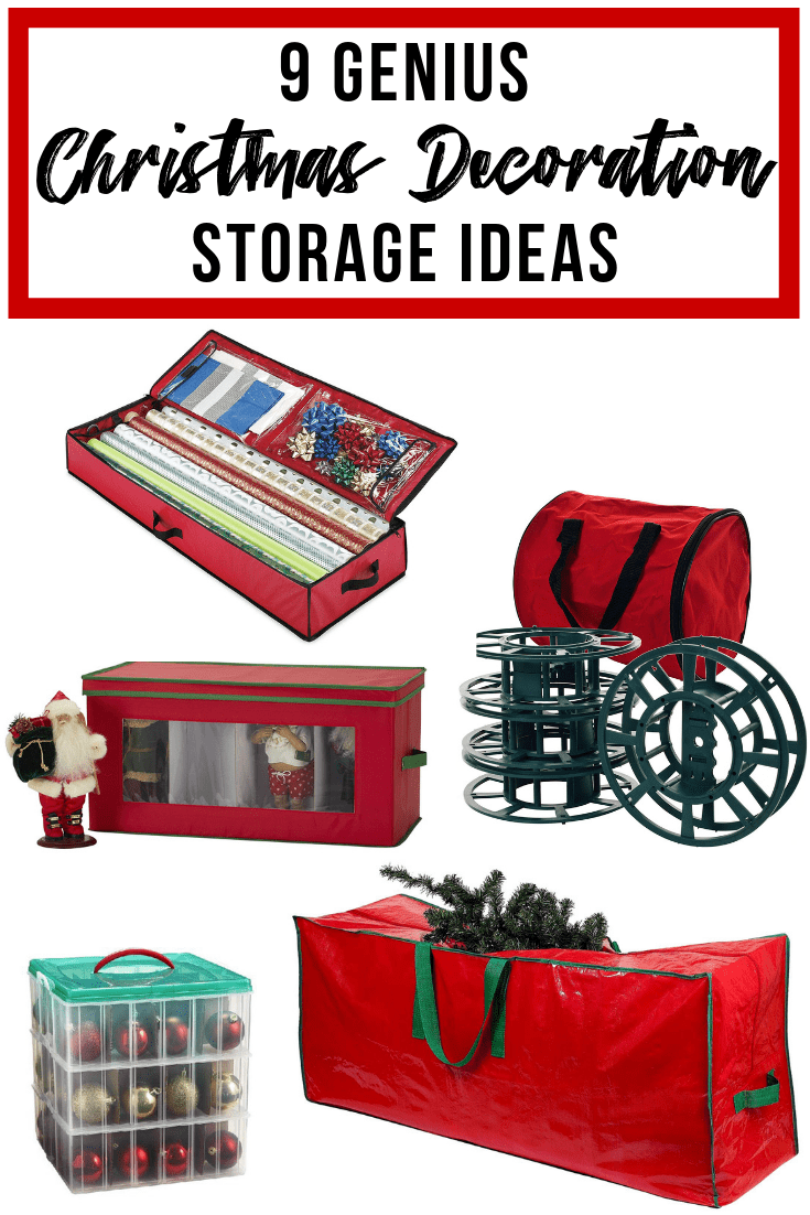 9 Genius Christmas decoration storage ideas