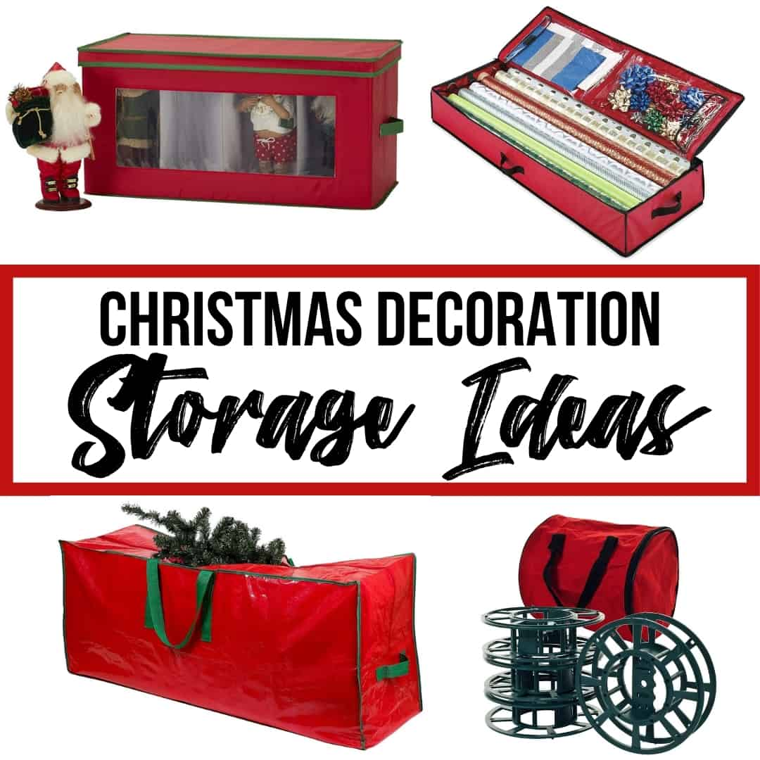 Christmas decoration storage ideas