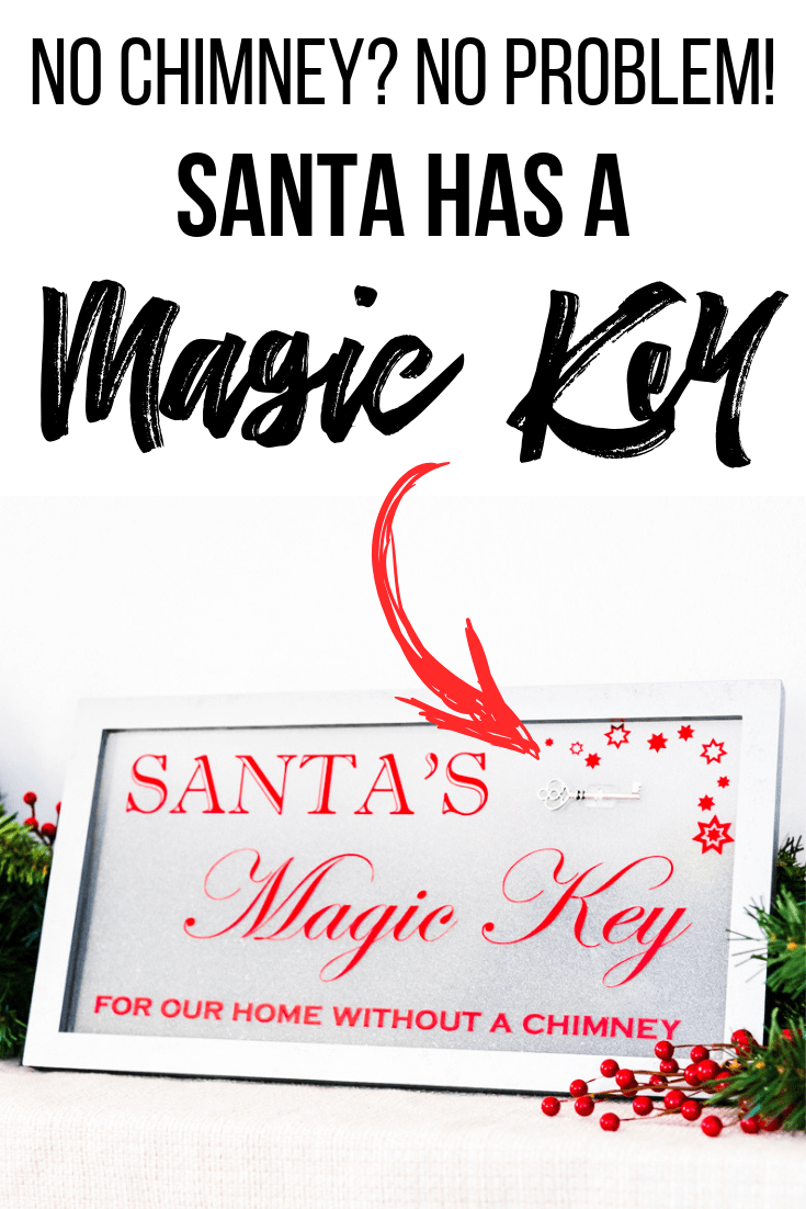 What does Santa do when a house has no chimney? He uses his magic key! Make your own Santa's Magic Key sign to display by the front door on Christmas Eve!