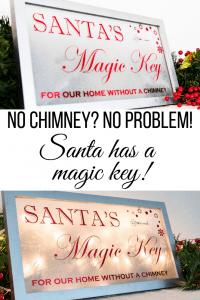 No Chimney? No problem! Santa's Magic Key will let him deliver presents through the front door!