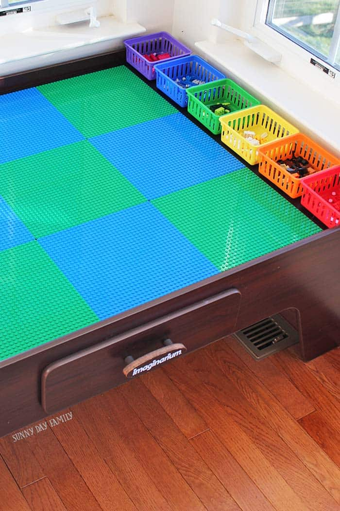 train table turned into lego table