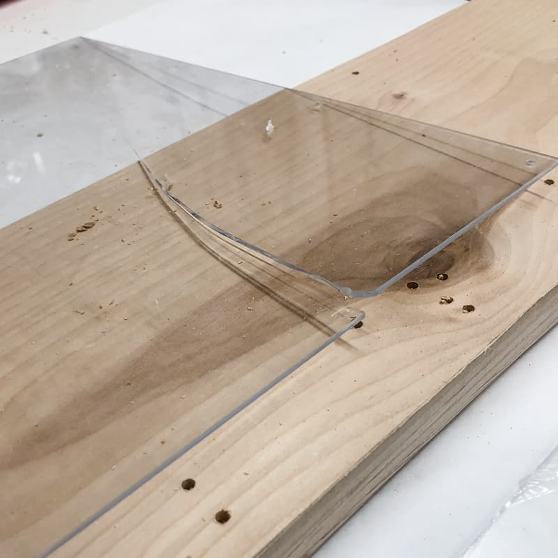 cracked plexiglass