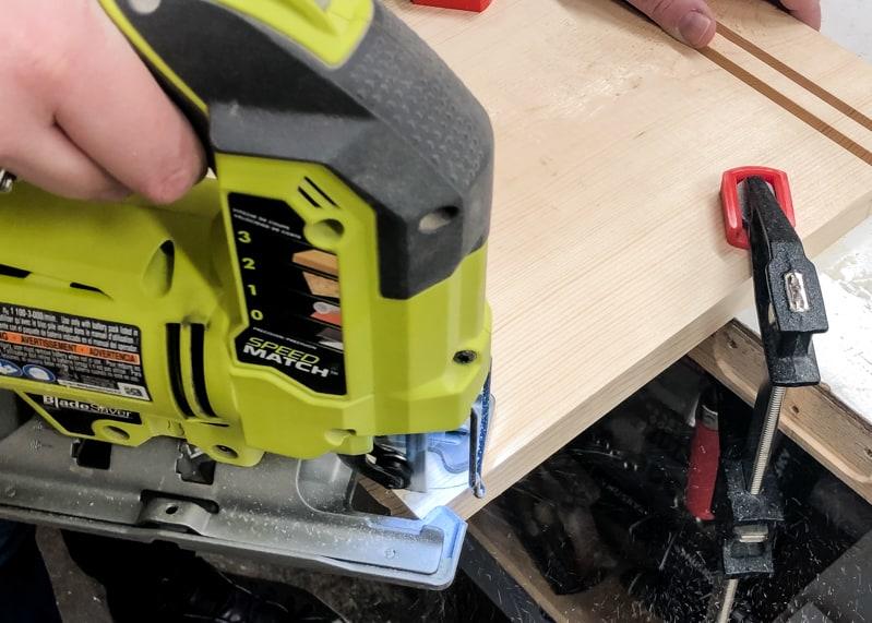 cutting off corners of DIY lego bin