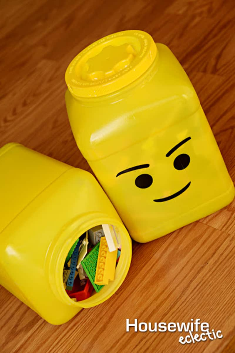 DIY Lego head storage containers