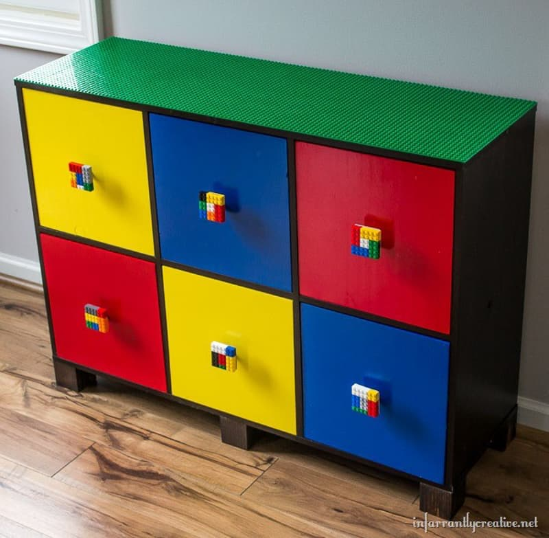 Lego Storage with Lego knobs