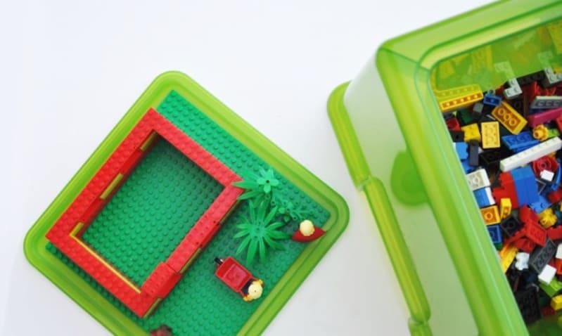 Lego storage stool