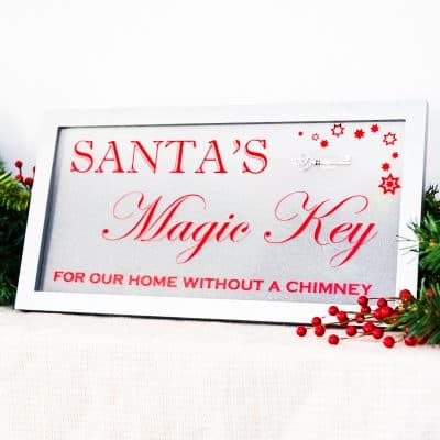 Santa's Magic Key for our home without a chimney