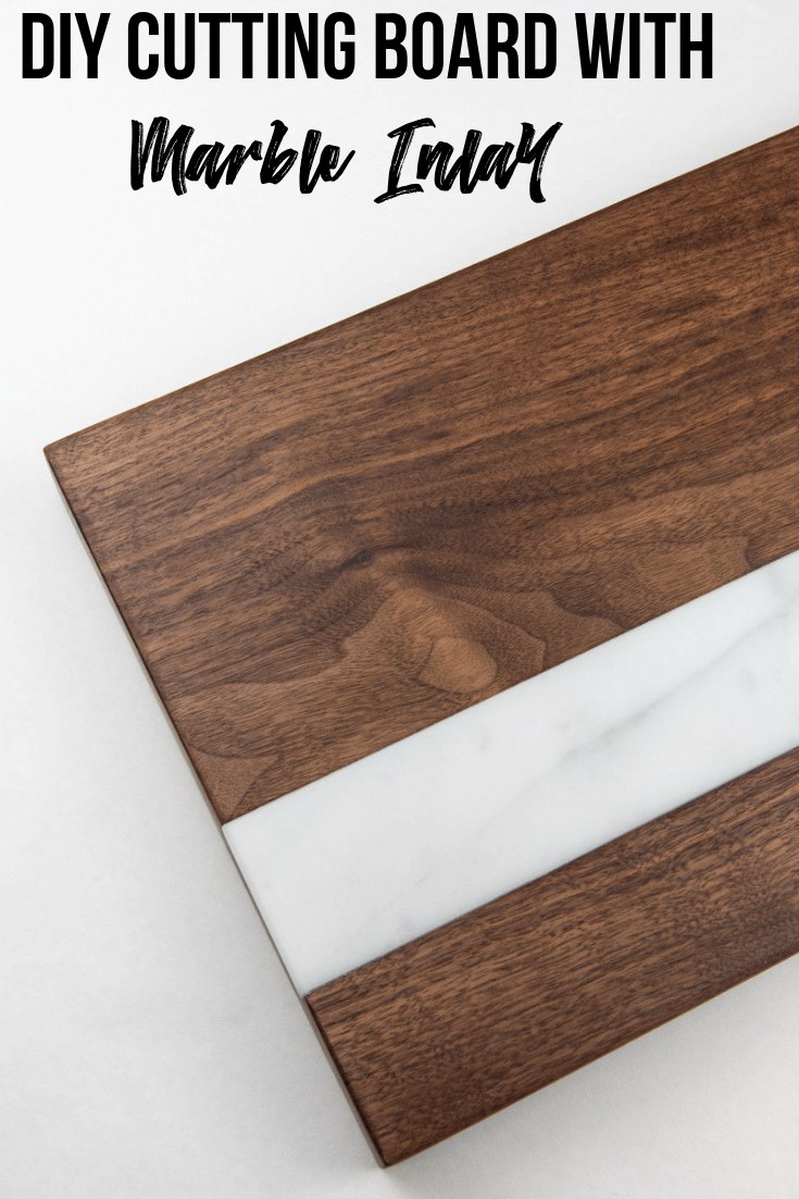 DIY Cutting Board with Marble Inlay