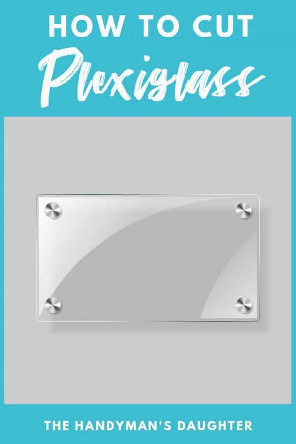 How to Cut Plexiglass with image of plexiglass rectangle on gray background
