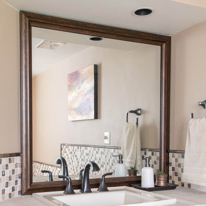 builder basic mirror with custom mirror frame