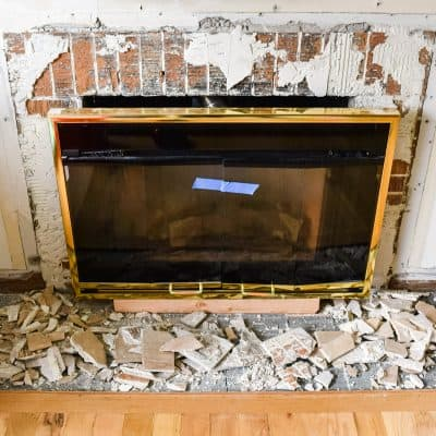 fireplace demolition complete
