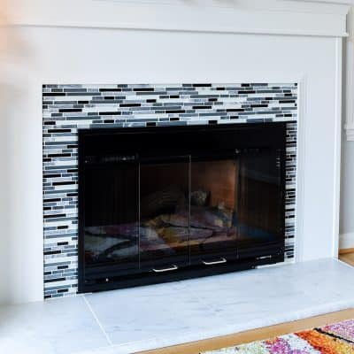 fireplace remodel reveal