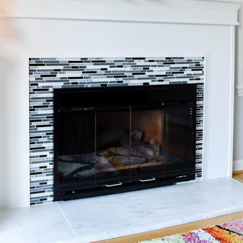 How To Install Fireplace Tile Remodel Reveal