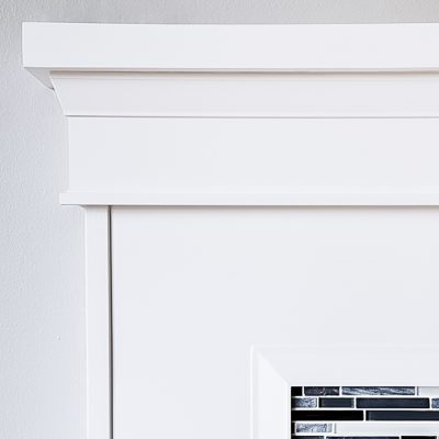 fireplace trim mantle and tile suround