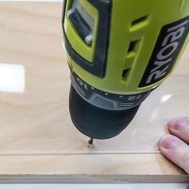 drilling holes in acrylic