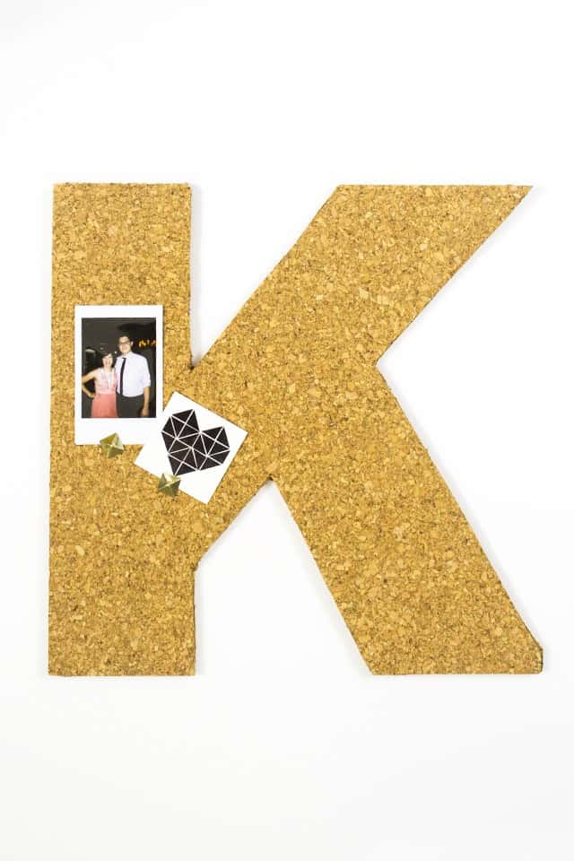 monogram cork board