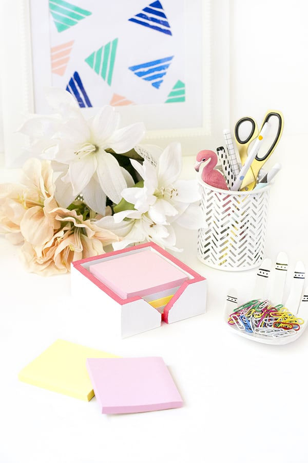 DIY desk decor - post it note holder