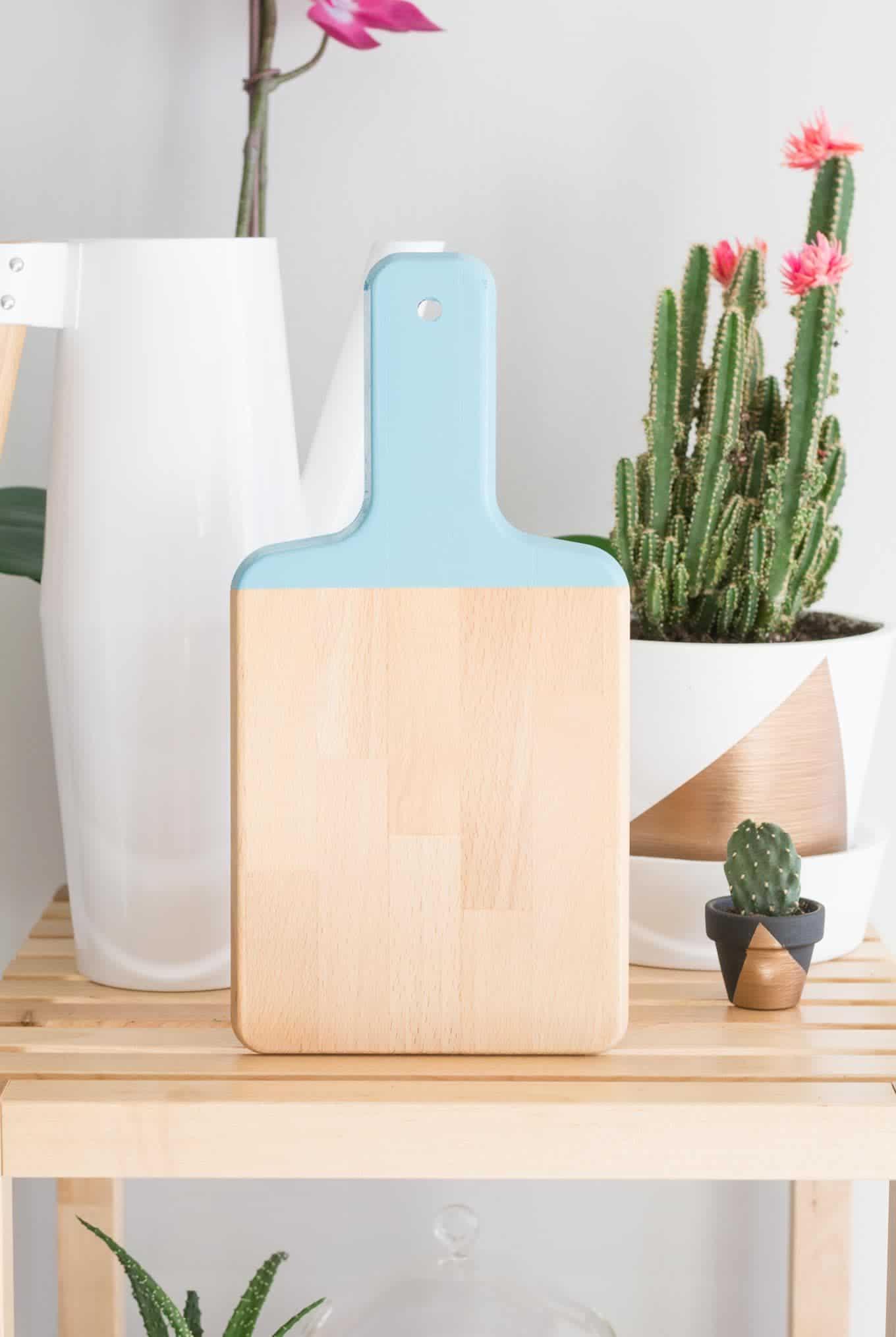 color block cutting board