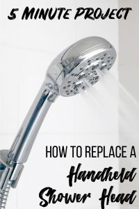 How to replace a handheld showerhead - 5 minute project