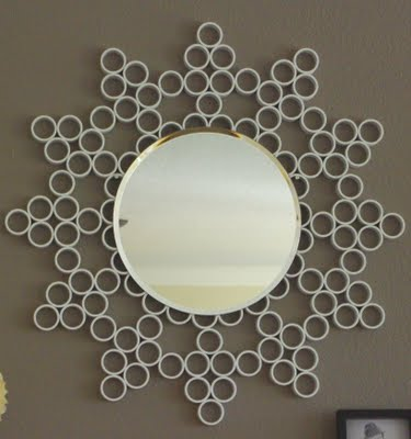 PVC pipe sunburst mirror