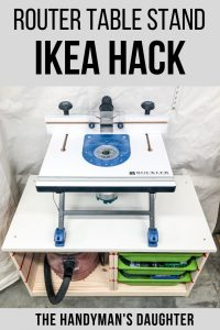 Router table stand IKEA hack