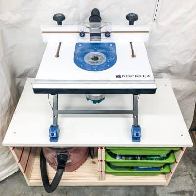 benchtop tool stand IKEA Trofast hack