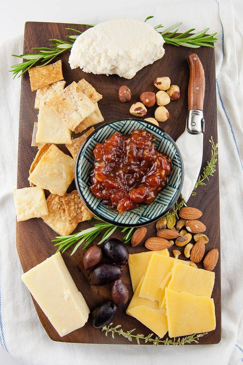 cheese board made from walnut board