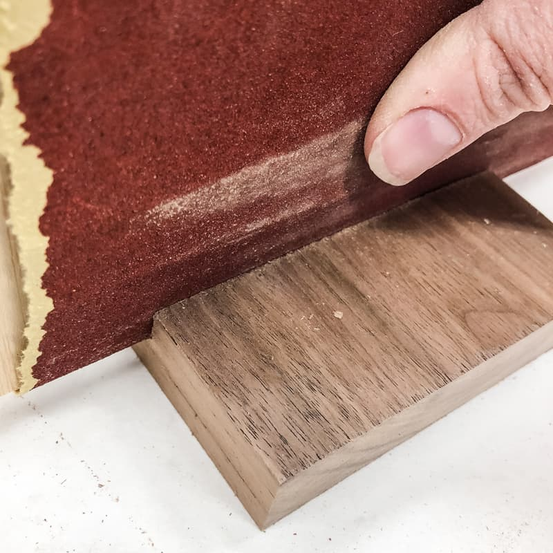 sanding inside of dado