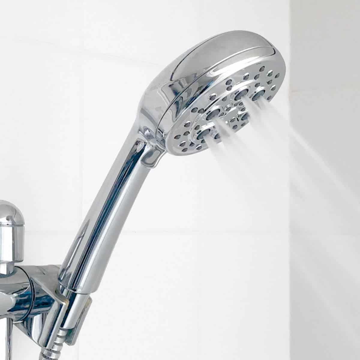Pfister Vie showerhead on HydroDrench setting
