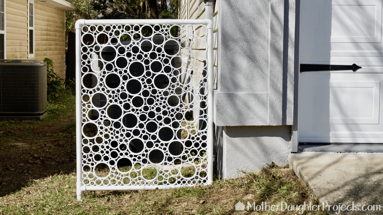 PVC pipe project - privacy screen