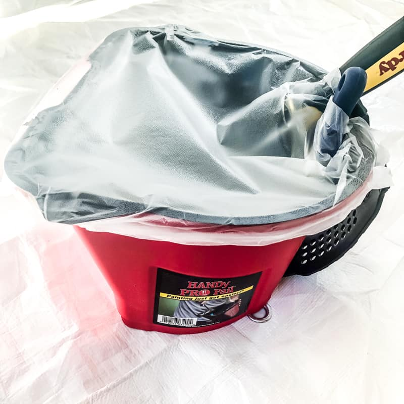 HANDy Pro Pail covered with plastic wrap