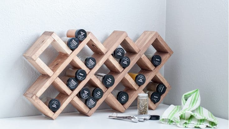 Easy Wooden Spice Rack